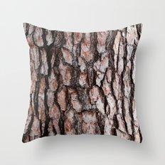 Pine Bark Throw Pillow