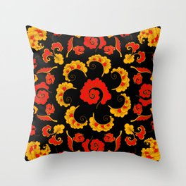 Traditional russian folk Throw Pillow
