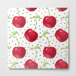 Cherry pattern II Metal Print