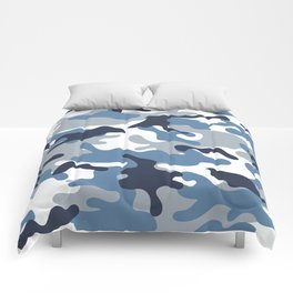 Blue and White Camo Comforters