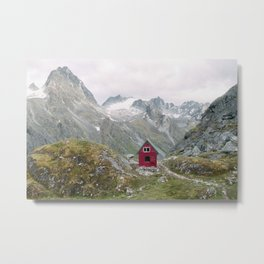 Mint Hut Metal Print