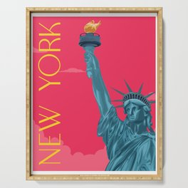New York | Statue of Liberty | Pop Art Version Serving Tray