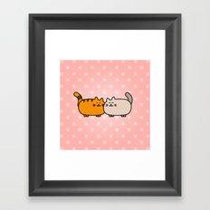 Romantic Cats Framed Art Print