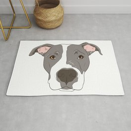 Pitbull Portrait Rug