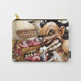 cowboy and native american Carry-All Pouch