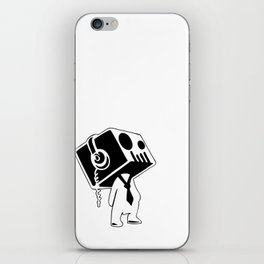 Boxed Skull, Named Ick - Business and Pleasure iPhone Skin