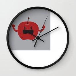 Ultra Angry Apple Wall Clock