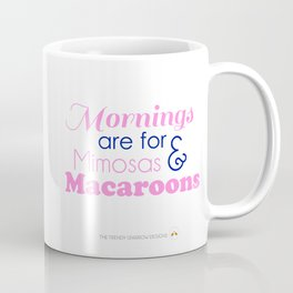 Mimosas and Macaroons - Pink and Navy Coffee Mug
