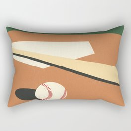 LA Baseball Field Rectangular Pillow