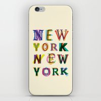 new york iPhone & iPod Skins featuring New York New York by Fimbis