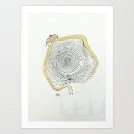 """""""outwards not inwards"""" spiral Art Print"""
