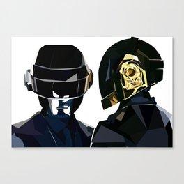 Daft Punk Poly Study Canvas Print
