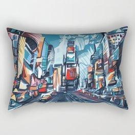 new york city-times square urban art Rectangular Pillow