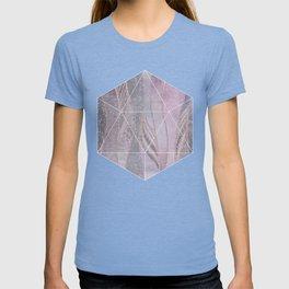 Glamorous Rose Gold Purple Wavy Glitter Lines T-shirt