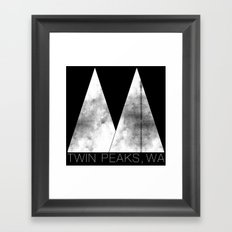 Twin Peaks, WA (White Lodge) Framed Art Print