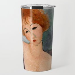 "Amedeo Modigliani ""Redheaded Girl in Evening Dress"" Travel Mug"