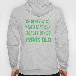 90 Years Old Algebra Equation Funny 90th Birthday Hoody