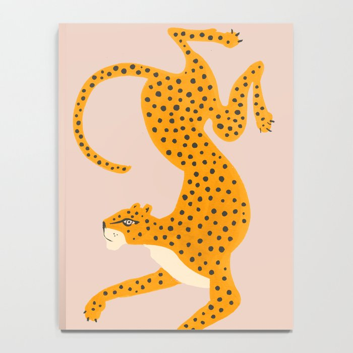 Leopard Race - pink Notebook