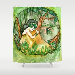 Elemental of Earth Shower Curtain
