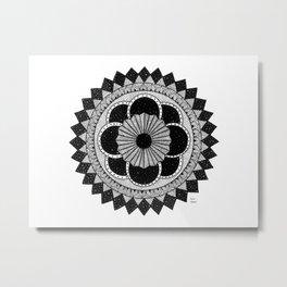 Mandala byn Metal Print
