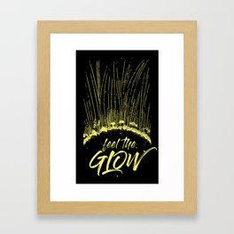 Feel the Glow // moonlight version Framed Art Print