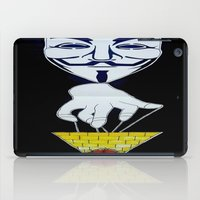 anonymous iPad Cases featuring Anonymous by Edgar Huaracha