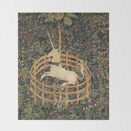 The Unicorn In Captivity Throw Blanket