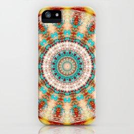 Southwestern Turquoise Orange Mandala iPhone Case