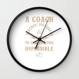 Best Coach Appreciation Gifts Teach Motivates Inspires Wall Clock