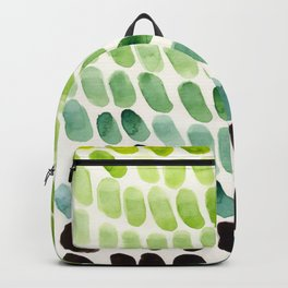 Green Teal Watercolor Abstract Organic Pattern MInimalist Abstract Colorful Pattern Natural Geometri Backpack