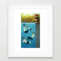 iwatobi Framed Art Prints featuring IWATOBI SWIM CLUB by Nymre