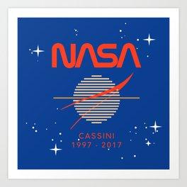 Cassini Probe 1997 - 2017 Art Print
