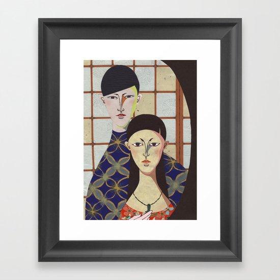 Couple Framed Art Print