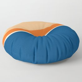 Lines Print Blue, Orange and Yellow Floor Pillow