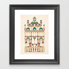 Block Façade Framed Art Print