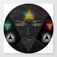wizard Canvas Prints featuring Wizard by Spooky Dooky