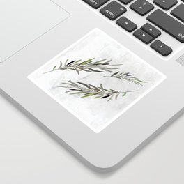 Eucalyptus Leaves White Sticker