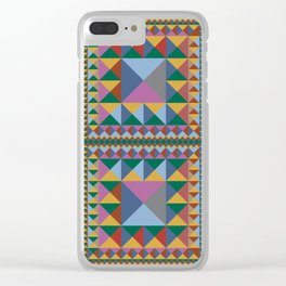 Triangle Pattern Autumn Color - Living Hell Clear iPhone Case