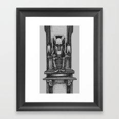 Pax Robota - B&W Framed Art Print