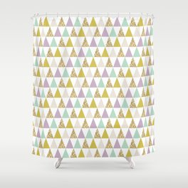 Graphic and Glitz in Cool Jewels Shower Curtain