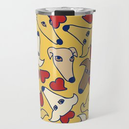 I love greyhounds Travel Mug