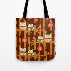 Owl Forest Tote Bag