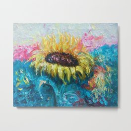 Sunny Flower by Lena Owens Metal Print