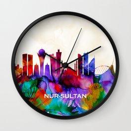 Nur-Sultan Skyline Wall Clock