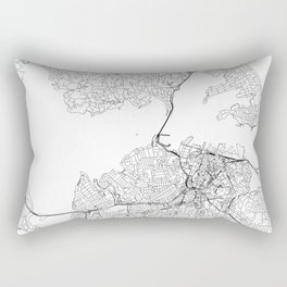Auckland White Map Rectangular Pillow
