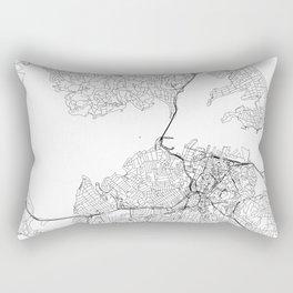 Auckland White Map Rectangular Pillow