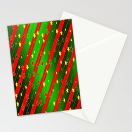 Holiday Season Stars and Stripes  Stationery Cards