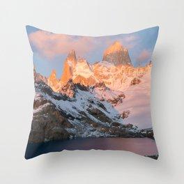 Fitz Roy at Sunrise Throw Pillow