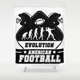 Evolution American Football Shower Curtain