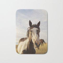 Western Paint Horse Bath Mat